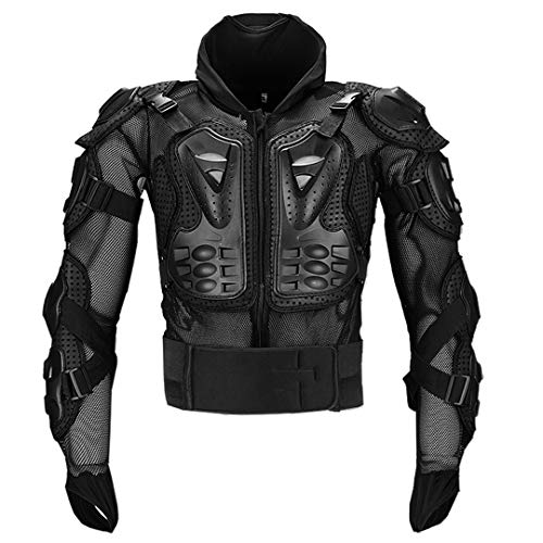 Gratydallks Motorrad Body Jacket Protector Moto Off Road Reiten Racing Neck Guard Schutzausrüstung Black S -