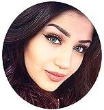 Glamlens SILICONE COMFORT SOFT Graue Kontaktlinsen ohne Stärke - für Dunkel Braune und Schwarze Dunkle Augen + Kontaktlinsenbehälter. 2 Farbige Silbergrau 3 Monatslinsen 0.0 Dioptrien
