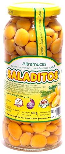 Saladitos - Weisse Lupinen eingelegt in Salzlake - Saladitos - Altramuces (600g netto)