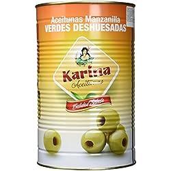 Karina Grüne Manzanilla-Oliven ohne Stein, Dose, 3er Pack (3 x 2 kg)