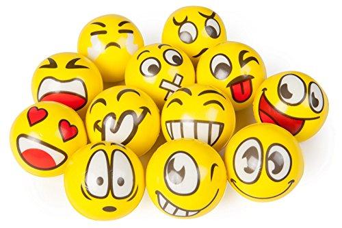 4 Stück Smiley Knautschball Emotion sortiert - keine Auswahl möglich