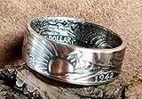Coinring, Münzring, Ring aus alter Half Dollar Münze von 1942,
