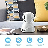 Bagotte Caméra IP, Caméra de Surveillance 1080P WiFi Pan/Tilt, Vision Nocturne, détection, contrôle à Distance pour appareils iOS, Android avec Microphone et Haut-Parleur pour Home/Baby/Pet Moniteur