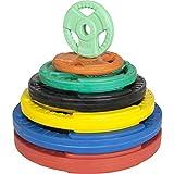 GORILLA SPORTS® Hantelscheiben-Set/Einzeln Gummi Gripper - 1,25-25 kg Gewichte mit 30/31 mm Bohrung