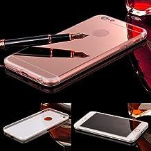 Donkeyphone 599371031 - funda gel con efecto espejo dorada rosa carcasa silicona transparente para iphone 6 plus y 6s plus (5,5\\\