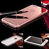 372966e495e Donkeyphone 599371031 - funda gel con efecto espejo dorada rosa carcasa  silicona transparente para iphone 6