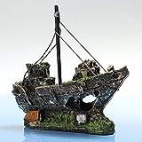 Hinmay resina peschereccio acquario ornamento pianta plastica decorazione per acquario accessori