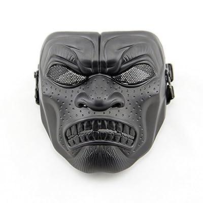 Feld schützende Skull Maske, full Face Maske Halloween Maske Feld Maske Horrormaske , silver black