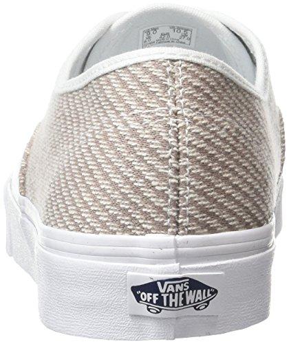 Vans Unisex-Erwachsene Authentic Slim Low-Top Beige (Jersey smoke/true white)