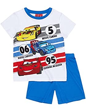 Disney Cars Chicos Pijama mangas cortas 2016 Collection - Blanco