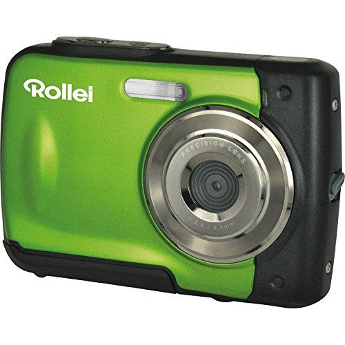 Kinder Unterwasser-kamera Für (Rollei Sportsline 60 - vielseitige Digitalkamera mit 5 MP, 8-fach digitalem Zoom, 6 cm Display (2,4 Zoll), bildstabilisiert, spritzwasserfest und wasserdicht bis 3m - Grün)