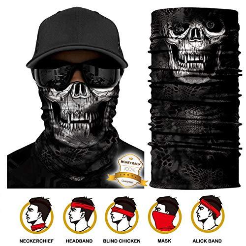 Multifunktionstuch Gesichtsmaske Bedrucktes nahtlos veränderbaren Schädel Lätzchen Sport Reiten Sonnencreme Maske Schlauchtuch Halstuch Bandana Face Shield Bandana Ski Motorrad Paintball Maske -