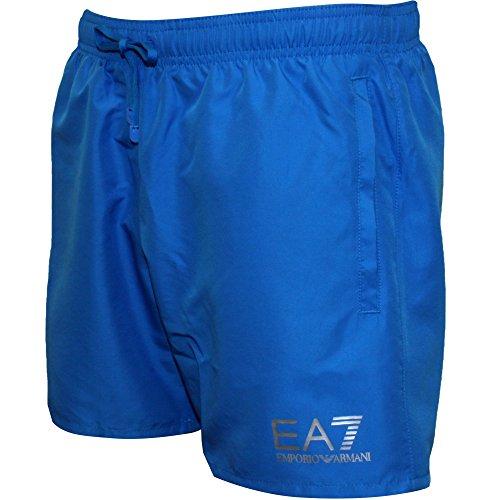 Versace Ea7 Herren Swim Shorts, Türkis Blau Mit Silber Large