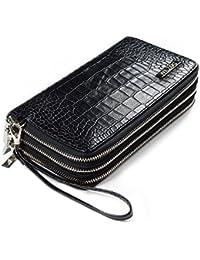 WILZOG Premium Clutch | Make Up Tasche | große Schminktasche mit 3 seperaten Fächern für viel Ordnung | Kosmetiktasche zum Ausgehen | Abendtasche Tasche