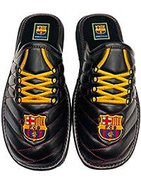 ANDINAS Zapatillas FC Barcelona para Andar en Casa Polipiel Bordado Cordones 647cb58b703