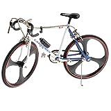MagiDeal 1:10 Scala Diecast Modello Bici da Corsa Bike Bicicletta Duplicato Gioco Collezione Lega - Blu Bianco
