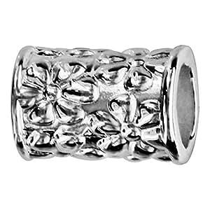 So Chic Bijoux © Charm Perle de Séparation Allongée Argent 925 - Compatible Pandora, Trollbeads, Chamilia, Biagi