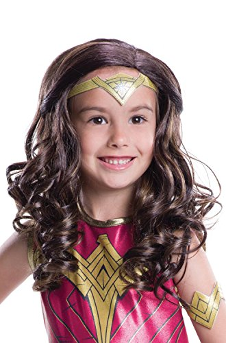 Rubies Justice League Wonder Woman Child Brown Wig Child One Size