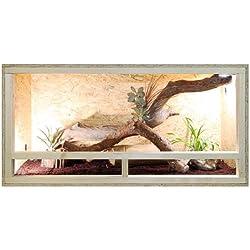 Repiterra Terrarium aus Holz 120x60x60 cm mit Seitenbelüftung aus OSB Platten mit Floatglas