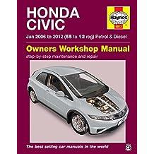 Manual Haynes para Honda Civic 1,4 i-vtec, 1,8 i