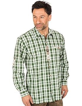 orbis Textil Trachtenkarohemd Grün