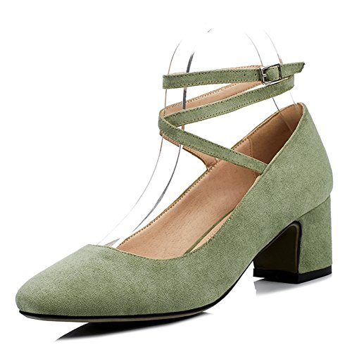 Lady,Summer,Chaussures Nue Asakuchi,Daim,Talons Rugueux C