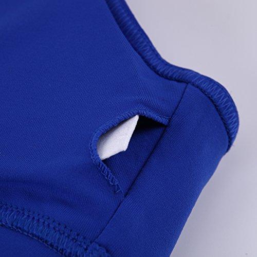 CHIC-CHIC-Brassiere Soutien-Gorge de Sport Push Up Zippee Rembourre Sans Armature Underwear Bra Sans Armature Yoga Course Plunge Support Dos Nageur Bleu