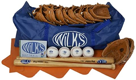 Wilks Junior Teambuilder Softball Set - Blue, 90 cm