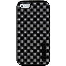 CUSTOM Black Incipio DualPro Case for Apple iPhone 5 / 5S - Black Grey Carbon Fiber Print