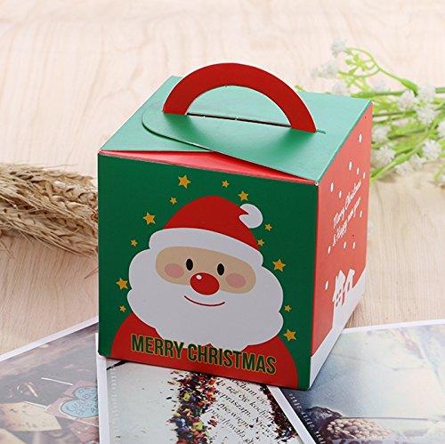 Global Brands Online Navidad 2017 Regalo de Papel de Santa Caja Candy Caja Partido de Navidad de Almacenamiento de Embalaje de Joyerãa Caja