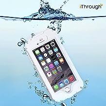 iPhone 6S Impermeable Funda, iThrough™ iPhone 6S Impermeable Funda, Funda prueba de polvo, de nieve y de golpe con protector de pantalla, Funda protectora muy resistente de cubierta para el iPhone 6S