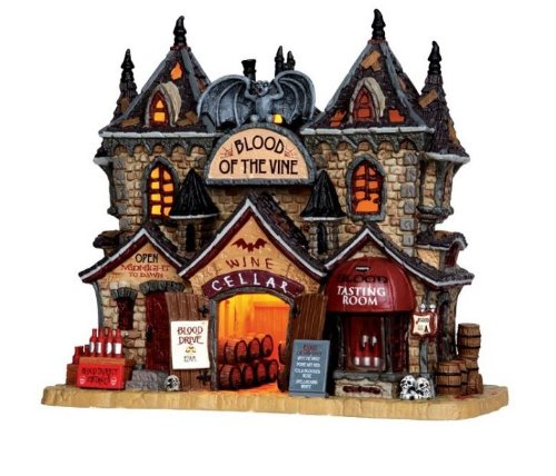 Lemax - Blood of the vine - Horrorhaus - 23,6cmx21,5cmx13,3cm - Beleuchtetes Gebäude aus Porzellan - Halloween Village - Spooky Town - Dorf