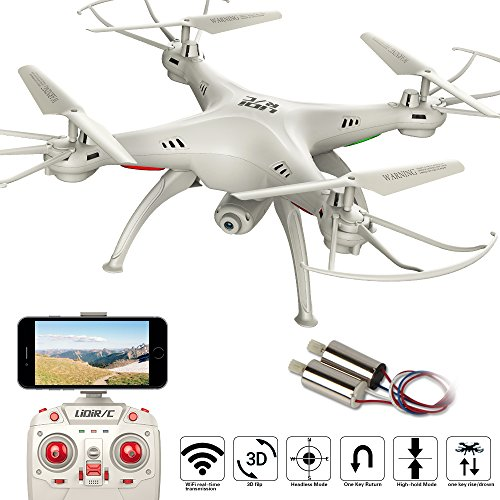 LiDi RC L15HW (SYMA X5SW Upgrade) 2,4GHz 6-Achsen Gyro Wifi FPV mit 0,3MP HD Kamera RC Quadcopter Drone Phenomenal-Hold-Modus mit 2 zusätzlichen Motor sehr einfach zu fliegen für Anfänger