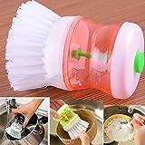 Creative Lavage de la vaisselle Brosse à laver Pot à ustensiles de cuisine. Xshuai® Brosse à vaisselle avec distributeur de savon liquide vaisselle éliminer facilement les taches