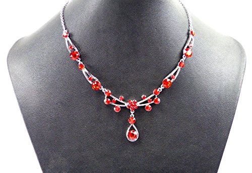 Élégant Collier pour femme avec SWAROVSKI pierres-Divers Faben rouge