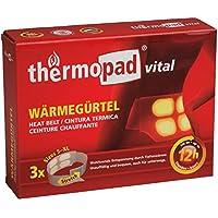 Thermopad vital Wärme-Gürtel   mit 4 großen Wärme-Zellen  wohltuende Tiefenwärme   sofort einsatzbereit   12 Stunden lang 42°C   einfache Anwendung   Größe S-XL   3er Pack