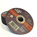 """(PACK OF 10) PARWELD 115 x 1mm Thin metal cutting discs for mild steel & stainless (4.5"""" discs)"""