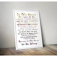 In questa casa facciamo - citazione ispiratrice - citazioni di ispirazione Poster regali stampa - Poster TV/film alternativi in varie dimensioni (cornice non inclusa)