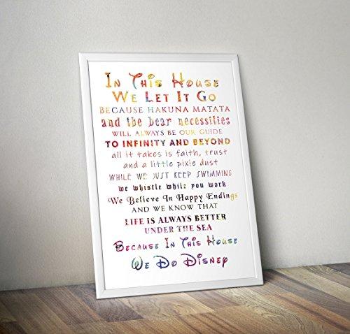 In diesem Haus tun wir - inspirierende Zitat - inspirierende Zitate Poster Print Geschenke - Alternative TV/Movie Poster in verschiedenen Größen (Frame nicht enthalten)