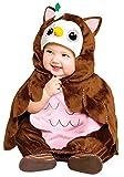 Koala Kids Deluxe Baby Eule Mädchen Halloween Fasching Karneval Kostüm Overall + Umhang (80/86)