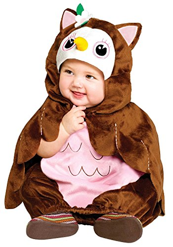 Koala Kids Deluxe Baby Eule Mädchen Halloween Fasching Karneval Kostüm Overall + Umhang ()