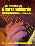 Die wichtigsten Gitarrenakkorde - Die Grifftabelle