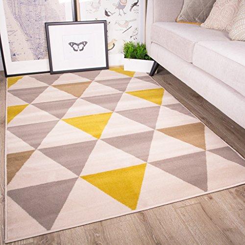 tapis-de-salon-tradtionnel-milan-triangles-motif-arlequin-ocre-jaune-gris-beige-120cm-x-170cm