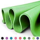 Glamexx24 XXL Fitnessmatte Yogamatte Pilatesmatte Gymnastikmatte EXTRA-dick und weich, ideal für Pilates, Gymnastik und Yoga Hell Grün
