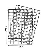 Yuede Eisen Gitter Grid Panel Set 2 Stück,Grid Mesh Display Panel dekorative Eisen Rack Clip Foto Wand hängen Bildwand, Ins Art Display Fotowand, 25,6 x 17,7 Zoll