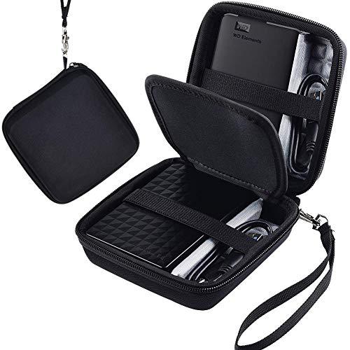 COMECASE Festplattengehäuse für Seagate/Toshiba HDTB410EK3AA / WD My Passport oder Elements/Maxtor 1/2/3/4 TB - Canvio Basics Expansion USB 3.0 Tragbare 6,35 cm Externe Festplatte - Schwarz
