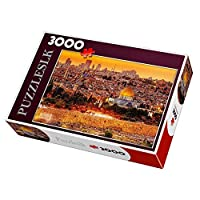 3000 Pieces Large Jigsaw Puzzle for Adults Kids,the Jerusalem,Colorful IQ Game Intelligent Educational Toys,DIY Home Decoration,116x85cm