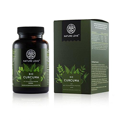 Bio Curcuma (Kurkuma) Kapseln - 3900 mg je Tagesdosis. 240 vegane Kapseln. Laborgeprüft & zertifiziert Bio. Mit Curcumin und Piperin. Ohne Magnesiumstearat. Hochdosiert, vegan, hergestellt in Deutschland