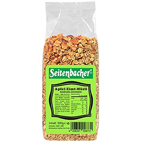 Seitenbacher Müsli Apfel-Zimt, 9er Pack (9 x 500 g Packung)