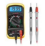 ULTRICS® Digital LCD Multimeter Voltmeter Ammeter OHM AC DC Circuit Checker Tester Buzzer ✮ Portable Digital LCD Multimeter with test leads